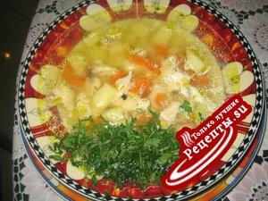 Куриный суп (быстро,дёшево и вкусно)