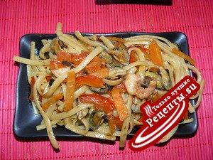 лапша Удон с морепродуктами