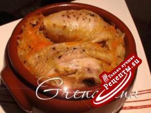 Ленивая курица запеченная с рисом