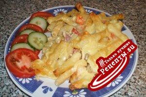 макароны запечённые с сыром