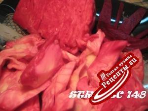 Маринованная капуста (красная)