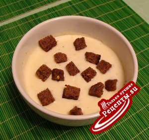 Молочно-сырный крем-суп