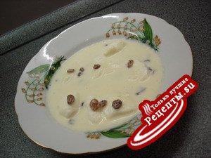 Молочный сладкий суп с клецками