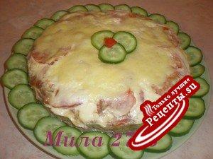 Мясной пирог с овсянкой