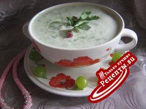 Не скучный холодный суп-капучино.(Дуэль)