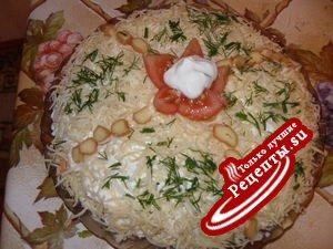 Необычный сырный салат,вариант