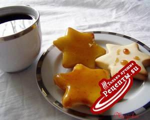 Нежное печенье с апельсиновой карамелью