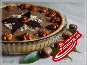 Ореховый тарт с кофейно-карамельным кремом.