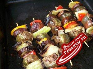 Овощной шашлык-Овощной салат-Овощной тоститос 3 в(из) 1!!!