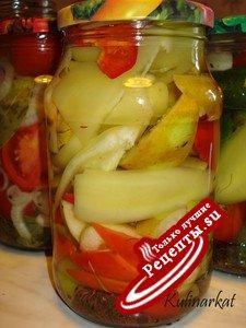 Перец, маринованный с яблочками
