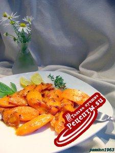 Пикантная карамлизированная медово-лимонная морковь (витаминный гарнир)