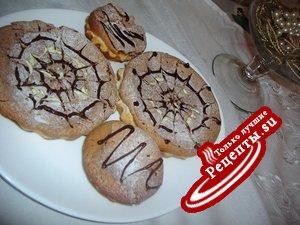 Пирожное с шоколадно творожным муссом