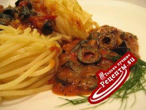 Постный оливковый соус (к пасте)