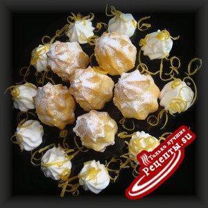 Профитроли с лимонно~сметанным кремом