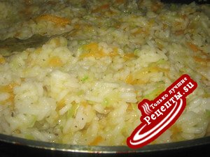 Рис с кабачками.