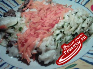 Рисовая запеканка с цуккини и морковью.