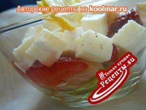 Салат ДЛЯ ТЕБЯ с семгой, клубникой, авокадо!!!!!