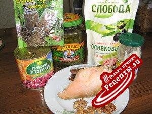 Салат фасолевый с курицей