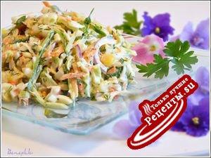 Салат из крабовых палочек с яйцом и свежими овощами (да,да...опять они)))