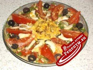 Салат из помидоров (мой вариант)