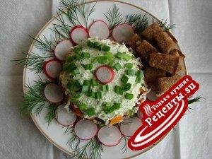 салат ,, Мясной с фасолью,, (вариант)