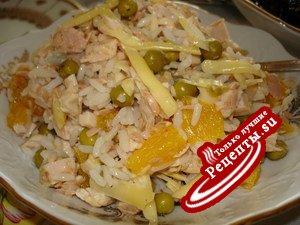 Салат по-итальянски из курицы с тунцом