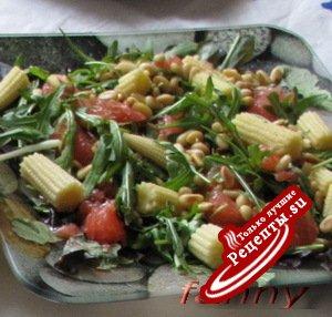 Салат с грейпфрутом и кукурузой
