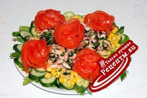 """Салат с креветками """"Весенний букет"""""""