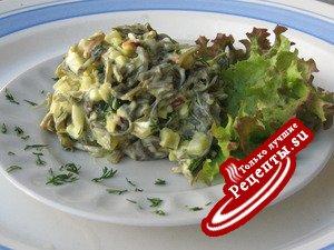 Салат с морской капустой(вариант)