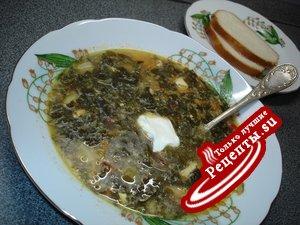 Щавелевый борщ или Зеленый борщ по Таганрогски.