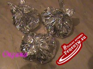 Серебрянные мешочки с рыбой