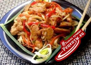 Сhicken Noodles или Курица с лапшой нуделс по китайски