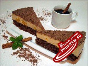 """Шоколадный торт с крем-брюле и апельсиновыми вкраплениями """"На пике экстаза""""..."""