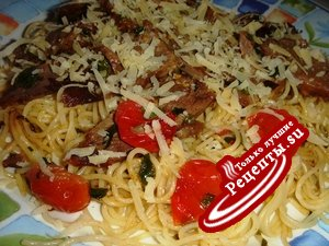 Спагетти с помидорами(и не только)
