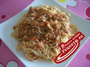 спагетти с СОУСОМ ИЗ ТУНЦА