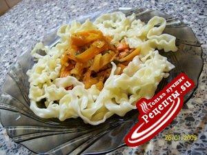 Спагетти-волна с овощами