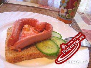 Страстный утренний бутерброд.
