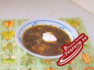 Суп из сухих белых грибов.