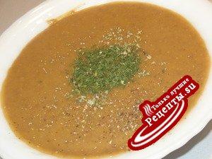 Суп-крем из чечевицы с сыром
