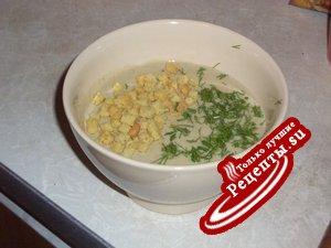 суп-пюре из белых грибов с сухариками