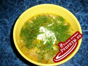Суп рыбный (из семги)