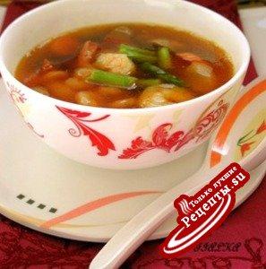 Суп с креветками в китайском стиле