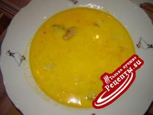 Суп с мидиями и креветками