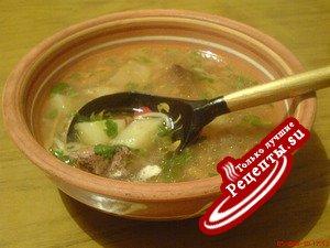 Суп с печенью по-деревенски