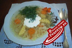 """Суп сметанный- """"Послепраздничный"""""""