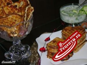 СЫРНО-ВЕТЧИННЫЕ ВАФЛИ + холодный супчик (окрошка) на завтрак