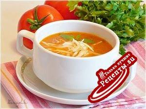 Томатный суп-пюре по-турецки.