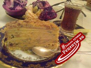 """Торт """"Рыжик"""" заварной, медовый (мой вариант)"""