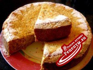 Творожно-ореховый пирог с финиками