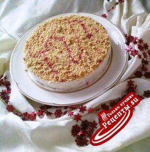 Творожный торт с посыпкой